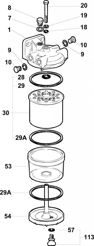 Components of CAV filter